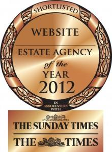 Shortlisted: Best Website - The Times & Sunday Times Estate Agent of the Year Awards 2012