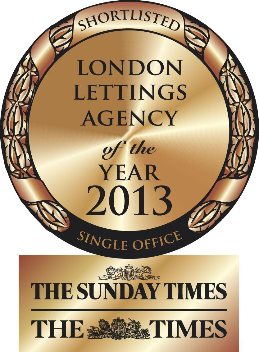 The Sunday Times London Letting Agency of the Year 2013